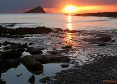 The Mewstone, Devon, UK. Late in the day. (ronalddavey80) Tags: sunset beach mewstone coast devon seascape waves sereen colourful canon eos70d