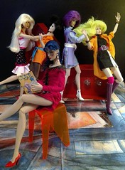 Misfits Behing the scenes (screamboy19) Tags: misfits pizzazz roxy stormer jetta clash integrity toys jem holograms color infusion 80s group designing woman costume indoor