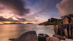 Anse Source d'Argent (Ramn Menndez Covelo) Tags: seychelles anse beach source dargent landscape panoramic horizontal outdoors nobody sunset romantic idilic paradise eden visipix