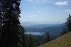 Smokey haze (Mike Burns) Tags: grandtetons smoke lake trees valley