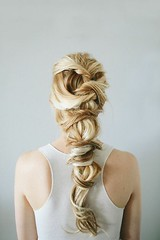 Girl with twisted braid hair (inspiration_de) Tags: fashion girl hair hairstyle photography twisted