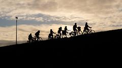 In the dutch mountains (Eric Spies) Tags: silhouetten ocaso tramonto sundown zonsondergang sunset sonnenuntergang silhouette gegenlicht controluce fuji fujifilm xt10 fujinon xc 1650 backlight fahrrad radfahrer bicycle bicicletta bicyclette bicicleta bike cyclist ciclista cycliste fietser fiets fietsen radfahren cycle cycling contrast kontrast contraste contrasto contrasten puestadelsol coucherdesoleil cyclists fietsers niederlande nederland netherlands paysbas olanda paesibassi holland diagonal diagonale diagonaal nimwegen nijmegen nijmegenlent lent