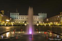 (IlPoliedrico) Tags: torino turin cittaditorino italy night lights luci fountain piazzacastello palazzoreale unesco