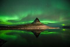 Kirkjufellsfoss Aurora (3dgor ) Tags: kirkjufellsfoss aurora northernlights reflection iceland mountain night