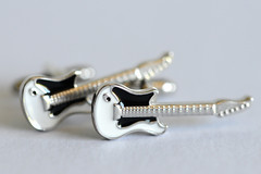 Every Little Thing (The Beatles) (PhotosbyDi) Tags: macromondays cufflinks jewellery jewelry silver guitars miniature instruments nikond600 tamronf2890mmmacrolens beatlesbeetles