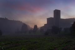 Sant'Antimo nella nebbia (Michele Tollapi) Tags: abbazia santantimo nebbia toscana tramonto