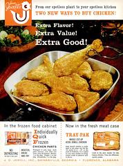1962 Jesse Jewell's Chicken (Tom Simpson) Tags: vintage ad ads advertising advertisement vintagead vintageads chicken friedchicken foodporn 1962 1960s jessejewell
