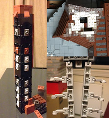 Some techniques used in my LEGO Tate Modern (caperberry.tj) Tags: afol lego moc tate modern tatemodern art gallery london south bank landmark scale model microscale architecture tower pyramid chimney snot technique instructions wedge angles part pieces elements