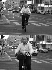 [La Mia Città][Pedala] (Urca) Tags: milano italia 2016 bicicletta pedalare ciclista ritrattostradale portrait dittico bike bicycle nikondigitale biancoenero blackandwhite bn bw 907155