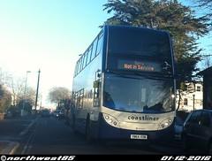 15992 (northwest85) Tags: stagecoach worthing coastliner 700 yn64 xsw 15992 scania alexander dennis adl enviro 400 service lyndhurst road bus yn64xsw