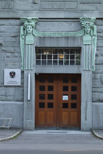 Art Nouveau entrance of Regional Court, 17.06.2012.