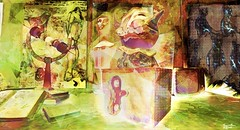 Jack & girl (Bamboo Barnes - Artist.Com) Tags: digitalart vivid bamboobarnes photo painting light shadow pink green blue black secondlife surreal doll onecaress