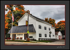 Clarksville Village Hall and Autumn Color (the Gallopping Geezer '4' million + views....) Tags: building structure smalltown backroads clarksville mi michigan canon 5d3 sigma 24105 geezer 2016 village hall township library