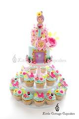 Flower Fairy Garden Party (Little Cottage Cupcakes) Tags: birthday party flower cakes cake garden cupcakes pastel peony fairy birthdaycake fairies magical gardenparty enchanted peonies fondant cupcaketower sugarart flowerfairy tieredcake fairycake sugarpaste cakeart girlcake littlecottagecupcakes