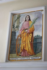 The patron saint of our apartment (Photocapy) Tags: santa valencia catalina hallway martyr benimaclet martir 2015