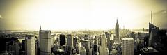 NY Panorama: View from the top (www.abhijitphotos.com) Tags: city nyc blackandwhite bw panorama ny skyline architecture buildings mono outdoor rockefellercenter newyorkskyline nyskyline nyny therock viewfromthetop tallbuildings d90 newyorkpanorama nikond90
