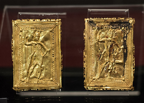 Gold plaques with relief decoration of human figures from the tomb of Seuthes III