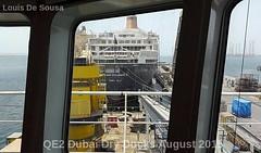 QE2 at Dubai Dry Docks August 2015 (Louis De Sousa) Tags: port rashid dubai qe2 legend cunard dry dock nakheel dp world queenelizabeth2 portrashid dpworld