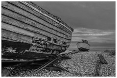 Return (frattonparker) Tags: abandoned monochrome fishing raw desert shingle dungeness hull hulk wreck trawler englishchannel timbers lamanche boatwreck yawl nikond5000 nikkor18200mmvrzoom btonner frattonparker lightroom6