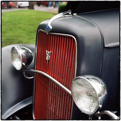 1934 Ford V8 Front (NoJuan) Tags: ford tlr film rolleiflex mediumformat 120film v8 carshow twinlens tessar 120rollfilm kodakportra160 fordv8 rolleiflex35a