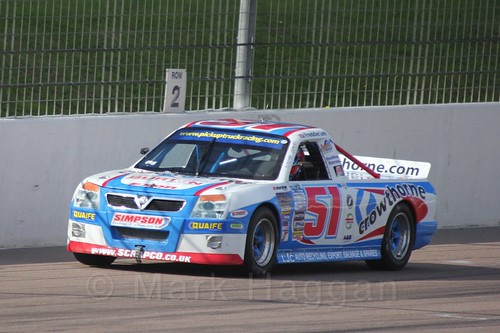 Freddie Lee in Pick Up Truck Racing, Rockingham, Sept 2015q