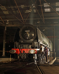 After Dark (Treflyn) Tags: night steam locomotive duchessofsutherland barrowhill 46233