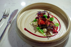 Rockling & Smoked Ox Tongue, Hay baked Beetrot, Horseradish (Premshree Pillai) Tags: food dinner singapore tastingmenu dinnerforone tipplingclub singaporesep15