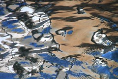 la mer sur le grill, tableau imaginaire (tableaux.imaginaires) Tags: sea mer abstract reflection art water colors eau grill reflet tableau astratto reflets abstact abstrait spiegelungen imaginaire reflessi boatrflections
