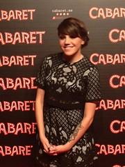 "Angy en el gran estreno de ""Cabaret"" de la mano de Cristina Castaño"