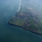 Kim's perfect navigation prevails - Cap Gris Nez appears a mile beneath us