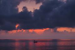 Untitled (mostakim timur) Tags: reflection canon river dawn solitude before bangladesh meghna vola beforesunrise 6d beforedawn beautifulbangladesh amarbangladesh tamron70200mmf28divcusd naturalbangladesh feboresunrise