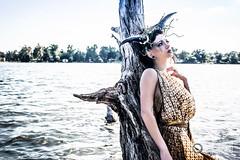 Elizabeth Noir-3 (L-Imaging) Tags: lake chicago art water beauty lady hair model nikon faces crown darkwater laimis limaging