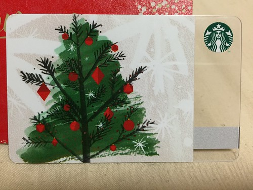 Holiday Starbucks Card Tree 2015