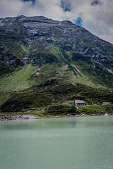Lake in the Swiss Alps in the Summer (mbell1975) Tags: lake swiss alps summer switzerland mountains mountain range landscape paysage