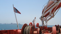 Flag & Lifeboat (Gunnar Eide) Tags: ocean sea norway yard dock ship flag transport lifeboat maritime shipping tanker tankers odfjell