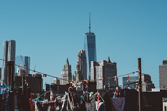 Clothes Lines (Kenny Rodriguez) Tags: newyorkcity rooftop skyline manhattan streetphotography clotheslines lowermanhattan newyorkcityskyline kennyrodriguez