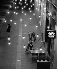 Girl at night (Leon Sammartino) Tags: from above street paris girl monochrome lady night lights qv
