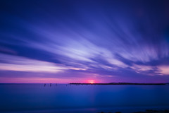 Sunset at Werribee South (Marty Friedel) Tags: pink blue sunset beach water clouds landscape australia victoria lee werribee werribeesouth bigstopper