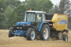 Ford 8240 Tractor with a New Holland BR740A Baler (Shane Casey CK25) Tags: county new blue ireland horse irish tractor holland ford field work pull golden hp corn nikon traktor br power cut earth farm cork farming grain working cereal harvest knife machine straw ground machinery soil crop cutting crops farmer blade agriculture dust cereals pulling contractor chaff collect blades collecting baler tracteur trator horsepower trekker 740 agri conna tillage ciągnik 8240 a traktori d7100 corn2015 harvest2015 harvest15 grain2015 grain15 br740a