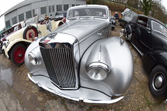 DSC_0276 (#Dave Roberts#) Tags: new fish eye classic cars museum vintage happy year curves january curvy fisheye motor mascots automobiles brooklands 2016