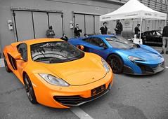 Real Mc's (Bonnie_Supertramp) Tags: blue orange exotic mclaren skittles worldcars mclarenmp412c shmee150 mclaren12c bonniesupertramp mclaren675lt 675lt