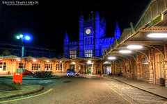 Bristol Temple Meads (AreKev) Tags: uk blue england station night train bristol sony railway cybershot railwaystation templemeads hdr sonycybershot gwr bristoltemplemeads isambardkingdombrunel greatwesternrailway photomatixpro dscrx100 sonydscrx100