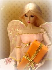 Christmas Angel (Deejay Bafaroy) Tags: christmas xmas pink portrait orange fashion angel weihnachten toys golden doll advent great barbie rosa portrt gifts blond gift presents blonde present engel fr geschenk geschenke royalty weihnacht lilith ros puppe integrity pretender weihnachtsengel nuface