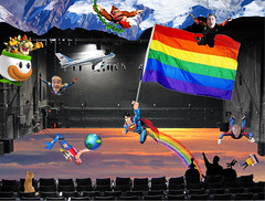 Catch Photo 30J (gaymay) Tags: california gay sky mountain snow love cat airplane happy james robot flying rainbow globe kitten bowser desert stage flag jerry palmsprings mario superman tophat airforceone donkeykong rainbowflag skydiver auditorium jetpack triad supergay darek trapezeartist mysterysciencetheater3000 peecup catchphoto