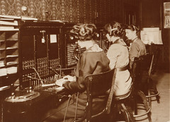 Telephone Switchboard Operators, 1913