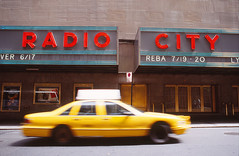 Radio City | New York (1995) (Henry Hemming) Tags: newyork yellow cab taxi jerry rye catcher jd radiocity seinfeld salinger newyorktaxiradiocity