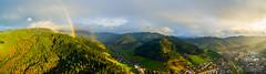 Rainbow in the morning / Black Forest (Nolle15) Tags: black mountains fog forest germany de deutschland rainbow aerial norman berge schwarzwald aerialphotography regenbogen luftbild luftaufnahme badenwrttemberg hausach kinzig kinzigtal ortenau ortenaukreis nollau