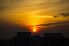 Red Sun (kg2km) Tags: sun rise set home landscape sky cloud vividstriking