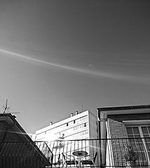 Une place au soleil - a place in the sun (Panafloma) Tags: arras terrasse bw btiments architecture