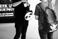 (yangkuo) Tags: panda kungfu po bag face bw mono street walkabout